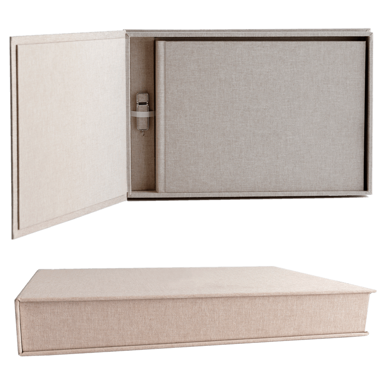 Linen Matted Box - Matted Box