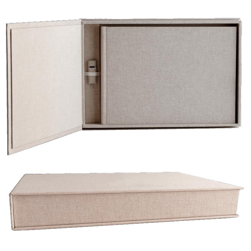 Linen Matted Box Quadrada