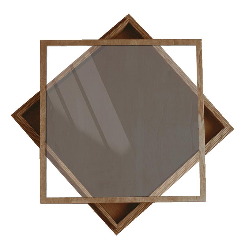 Duo Acylic Box - Wood Box