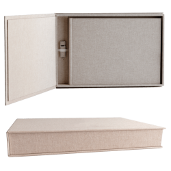 Linen Matted Box Panorámica